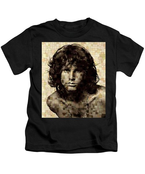Jim Morrison Cubism Kids T-Shirt