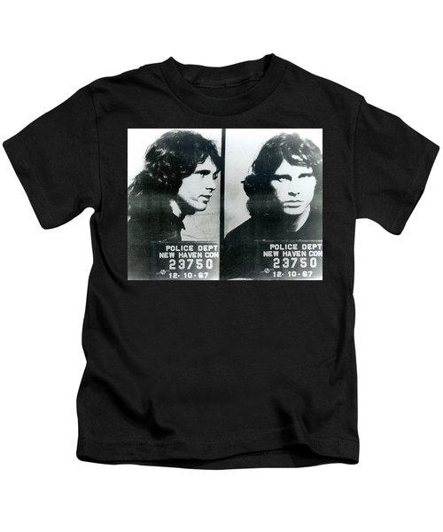 Jim Morrison Mug Shot Horizontal Kids T-Shirt