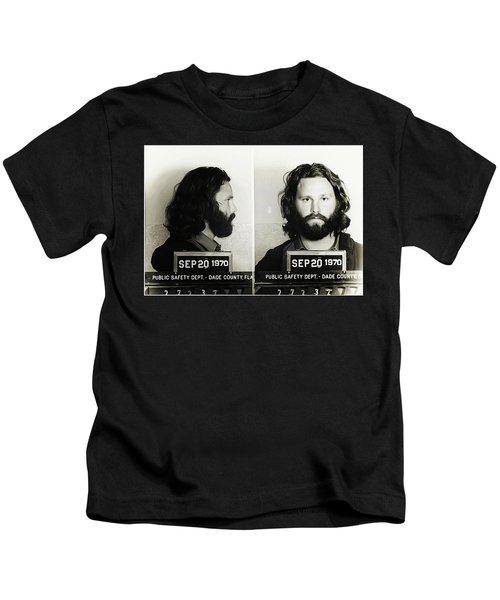 64588434e1c95 Jim Morrison Mugshot Kids T-Shirt