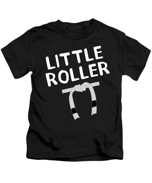 Jiu Jitsu Bjj Little Roller White Light Kids T-Shirt