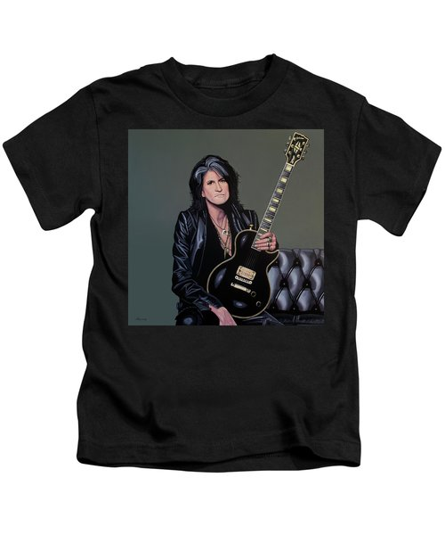 Joe Perry Of Aerosmith Painting Kids T-Shirt