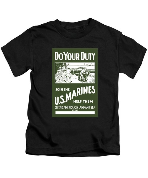 Join The Us Marines Kids T-Shirt