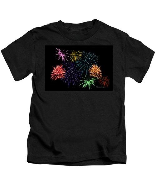 July Fireworks Montage Kids T-Shirt