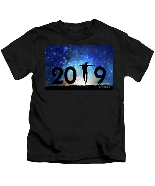Jump New Year Card Kids T-Shirt
