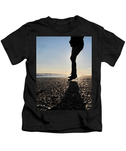 Jumping In The Sand Kids T-Shirt