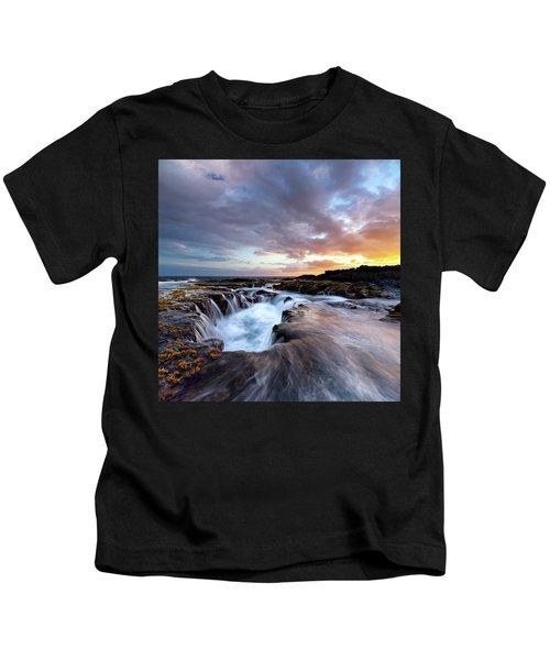 June Blow Hole Sunset Kids T-Shirt