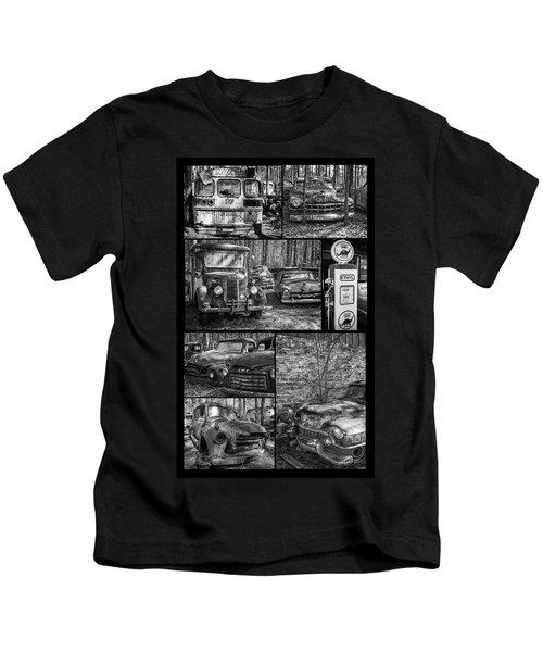 Junk Yard Cars Kids T-Shirt