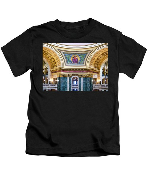 Justice Mural - Capitol - Madison - Wisconsin Kids T-Shirt