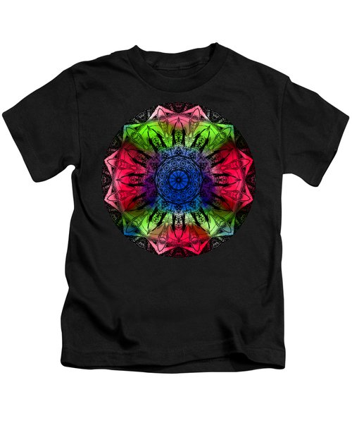 Kaleidoscope - Warm And Cool Colors Kids T-Shirt