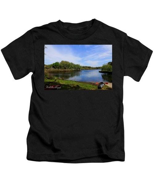 Kayaking The Cotee River Kids T-Shirt