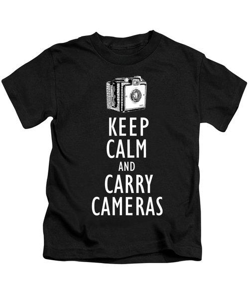 Keep Calm And Carry Cameras Tee Kids T-Shirt