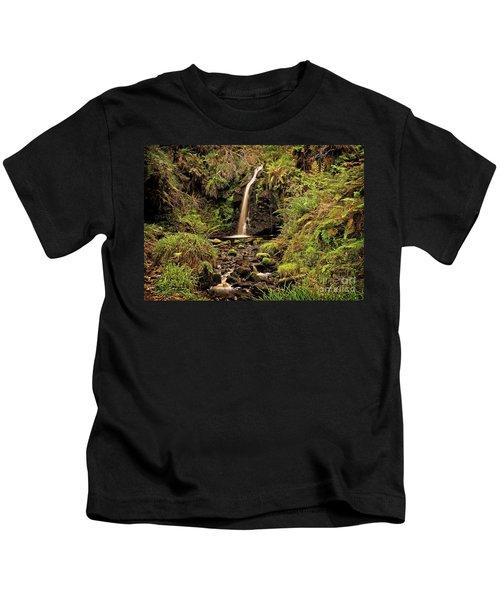 Kielder Forest Waterfall Kids T-Shirt