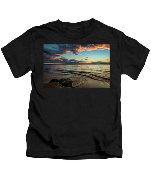 Kihei, Maui Sunset Kids T-Shirt