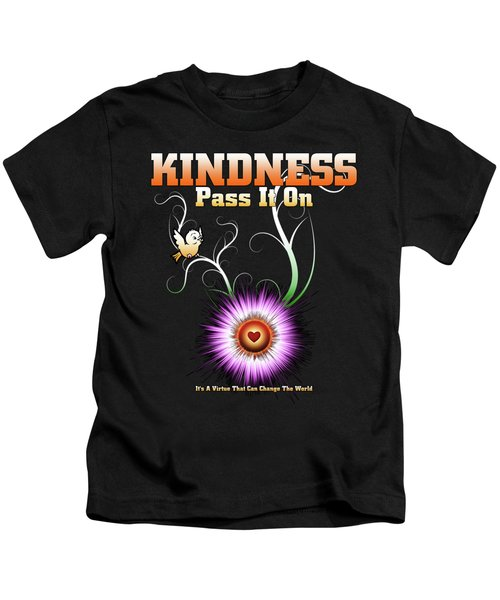 Kindness - Pass It On Starburst Heart Kids T-Shirt
