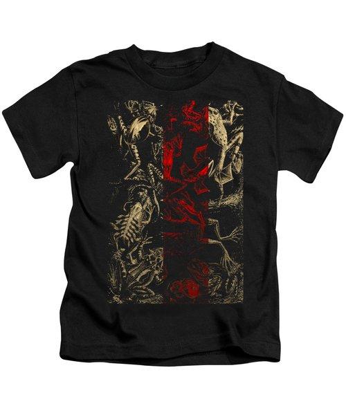 Kingdom Of The Golden Amphibians Kids T-Shirt by Serge Averbukh