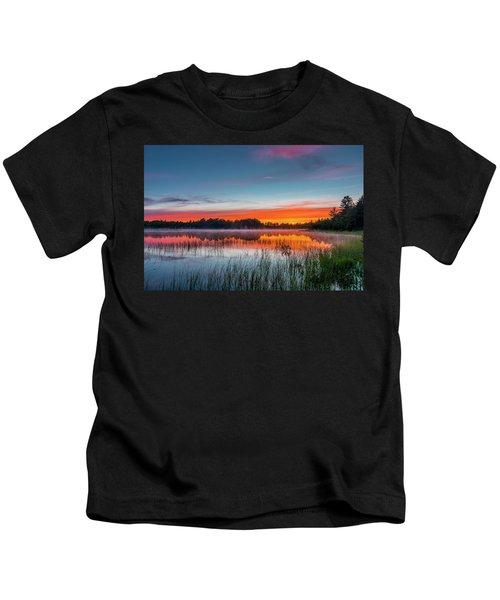 Kingston Lake Sunset Kids T-Shirt