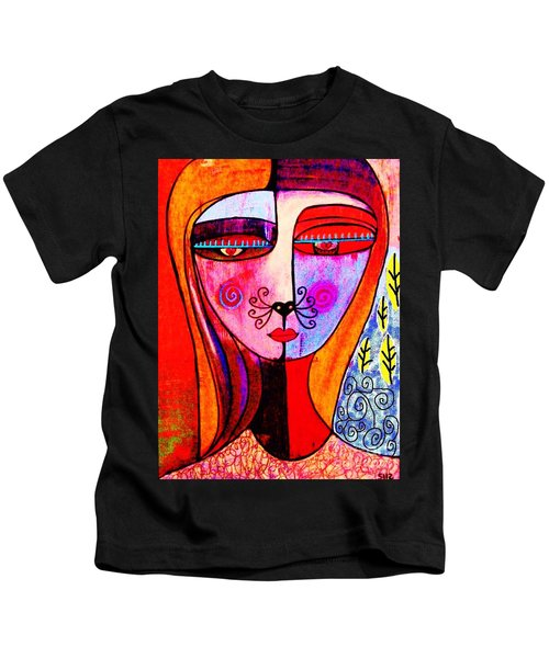 0 Kitty Cat Goddess Kids T-Shirt