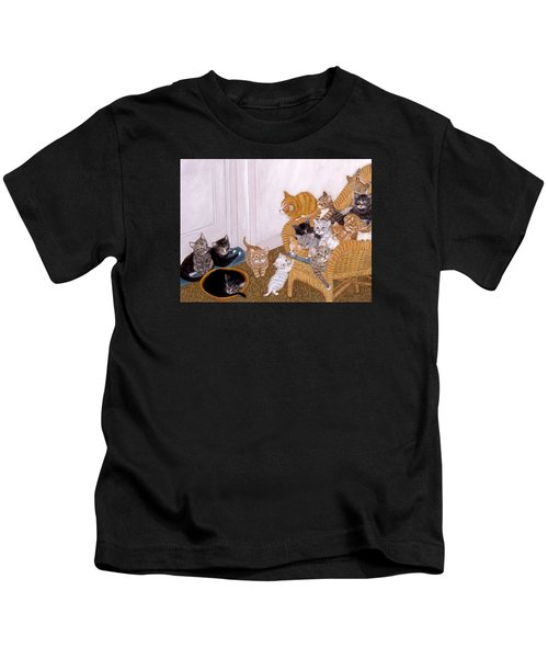 Kitty Litter II Kids T-Shirt