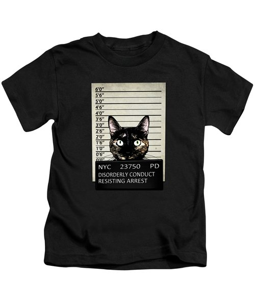 Kitty Mugshot Kids T-Shirt