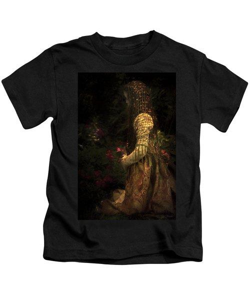 Kneeling In The Garden Kids T-Shirt