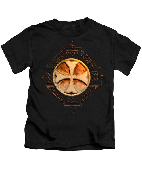 Knights Templar Symbol Re-imagined By Pierre Blanchard Kids T-Shirt by Pierre Blanchard