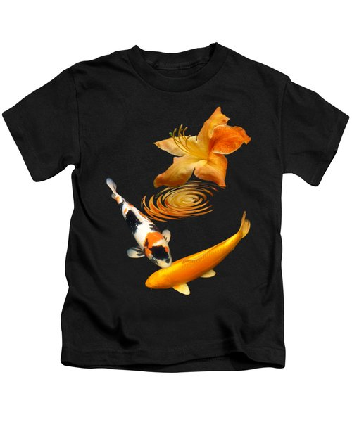 Koi With Azalea Ripples Vertical Kids T-Shirt