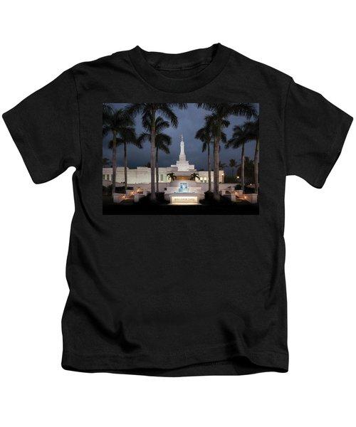 Kona Hawaii Temple-night Kids T-Shirt