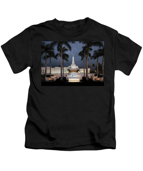 Kona Hawaii Temple-night Kids T-Shirt