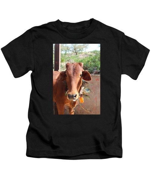 Krishna Cow, Vrindavan Kids T-Shirt