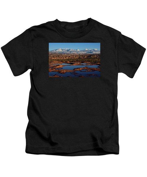 La Sal Mountains And Ephemeral Pools Kids T-Shirt
