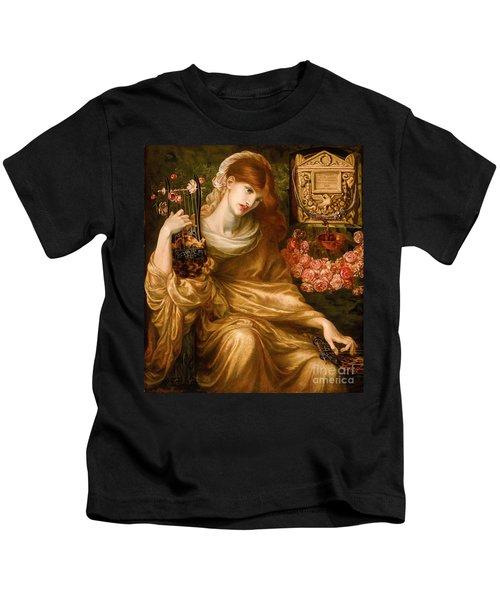La Viuda Romana 1874  By Dante Gabriel Rosetti Kids T-Shirt