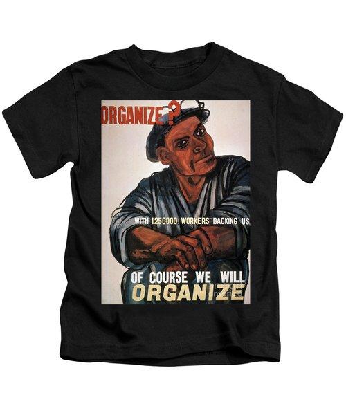 Labor Poster, 1930s Kids T-Shirt
