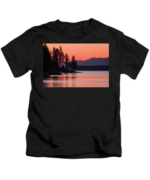Lake Almanor Twilight Kids T-Shirt