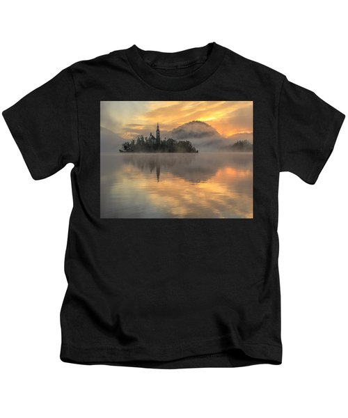 Lake Bled Sunrise Slovenia Kids T-Shirt