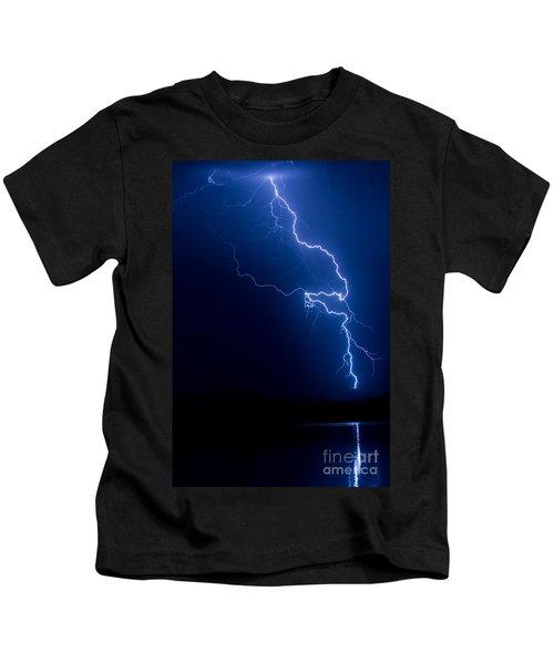 Lake Lightning Strike Kids T-Shirt