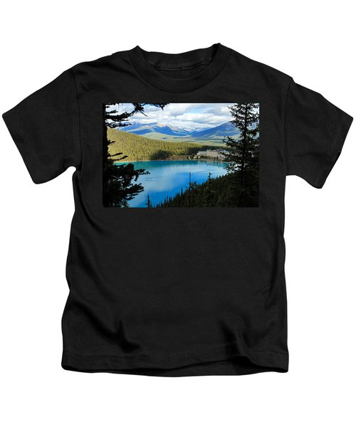 Lake Louise Chalet Kids T-Shirt