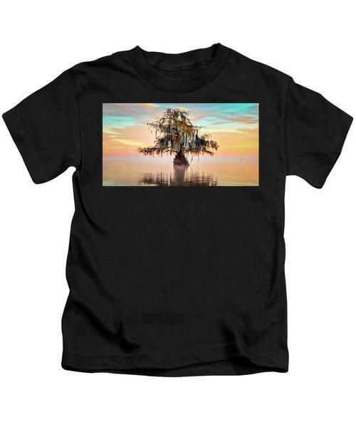 Lake Maurepas In Pastels Kids T-Shirt