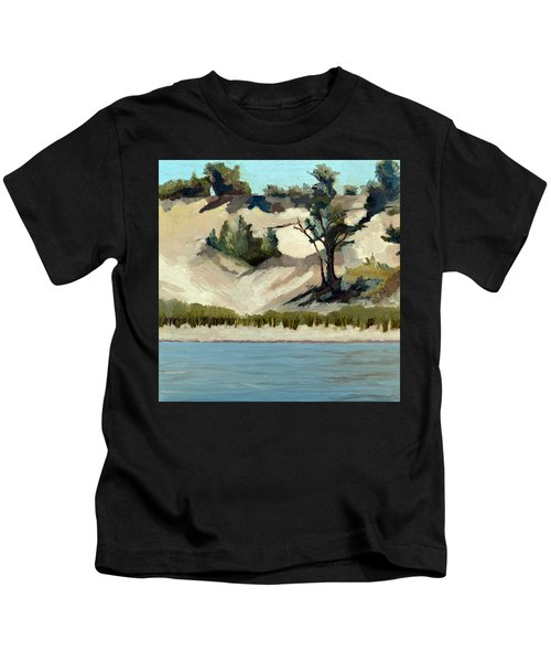 Lake Michigan Dune With Trees And Beach Grass Kids T-Shirt