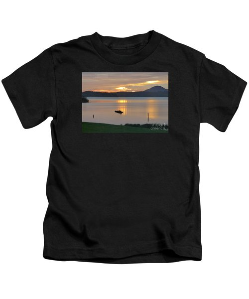 Lake Quinault Sunset - 2 Kids T-Shirt