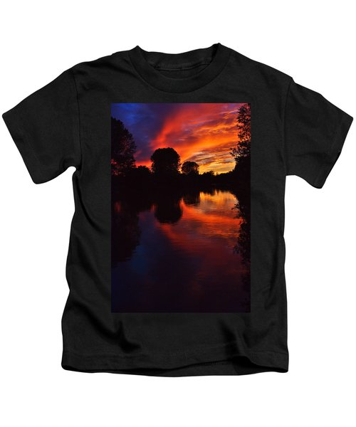 Lake Sunset Reflections Kids T-Shirt