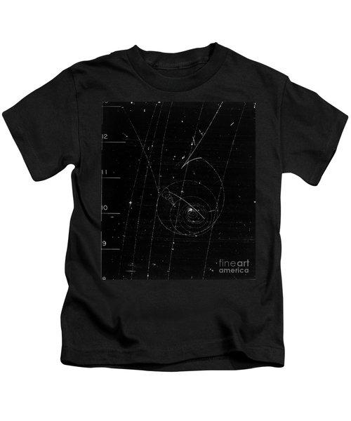 Lambda Decay, Bubble Chamber Event Kids T-Shirt