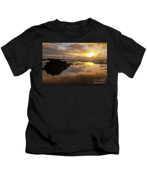 Lanai Sunset #1 Kids T-Shirt