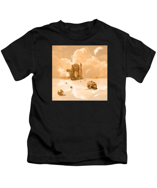 Landscape With Shell Kids T-Shirt