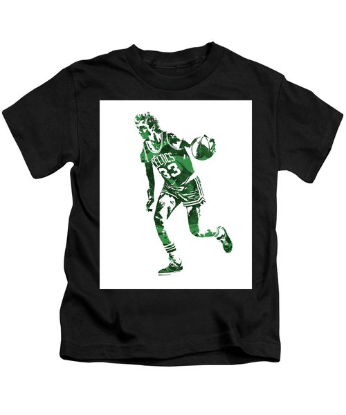 Larry Bird Boston Celtics Pixel Art 10 Kids T-Shirt