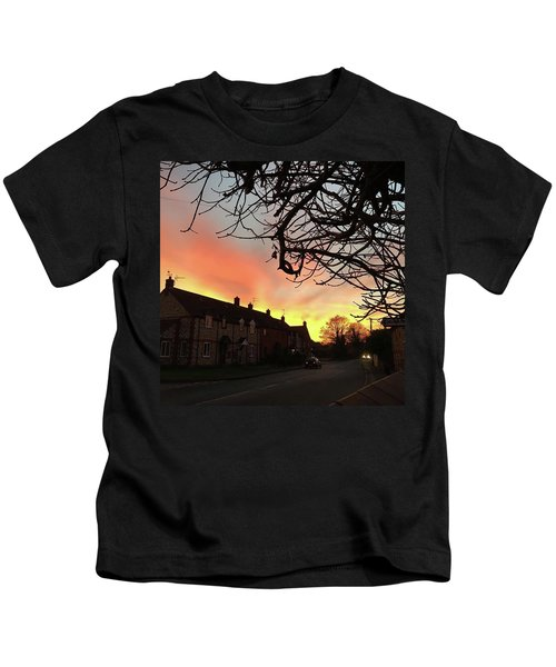Last Night's Sunset From Our Cottage Kids T-Shirt