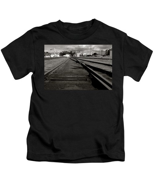 Last Train Track Out Kids T-Shirt