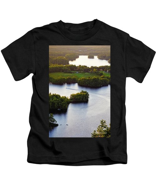 Late Afternoon On Lake Megunticook, Camden, Maine -43988 Kids T-Shirt