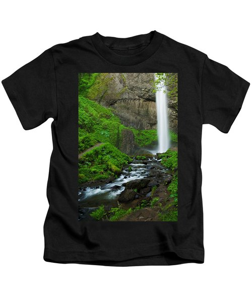 Latourell Falls Oregon Kids T-Shirt