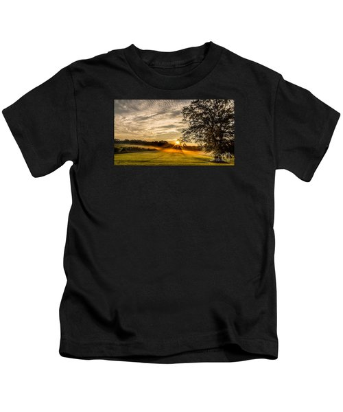Lawn Sunrise Kids T-Shirt