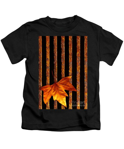 Leaf In Drain Kids T-Shirt